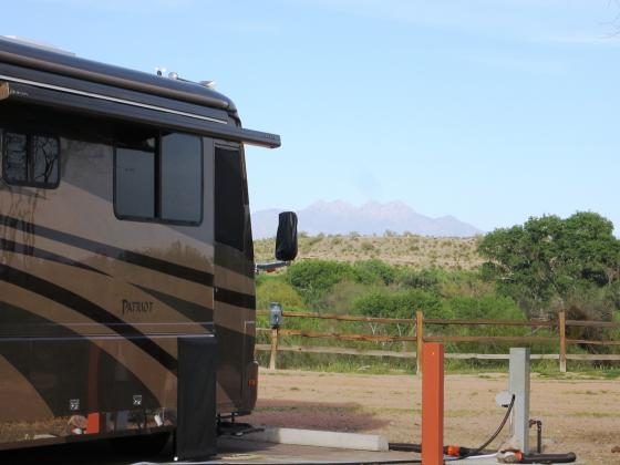 View to the east in the premium space at Eagle View RV Resort