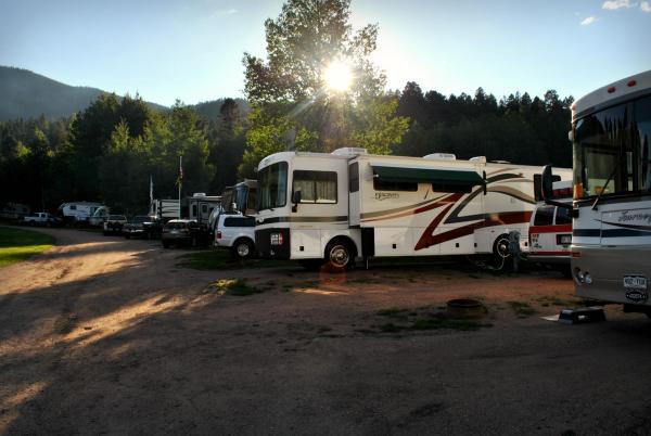 RV sites at Aspen Acres Campground in Rye Colorado