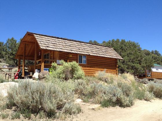 A rental cabin at Buena Vista KOA.