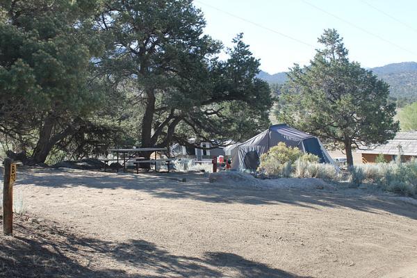 A tent camp site at Buena Vista KOA.