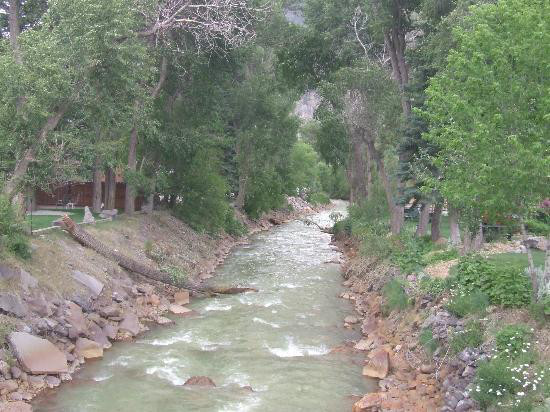 Scenic River views at 4J+1 RV Park & Campground in Ouray