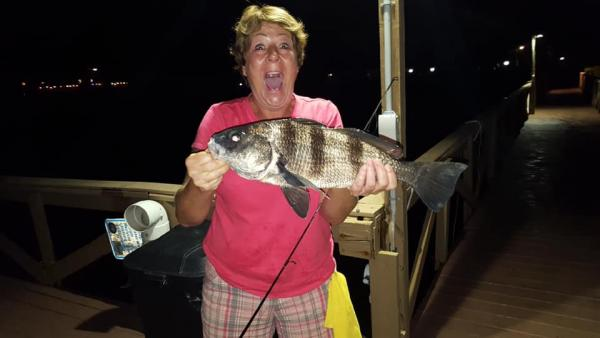 One of our guests was very excited about her big fish from Terra Ceia Bay!