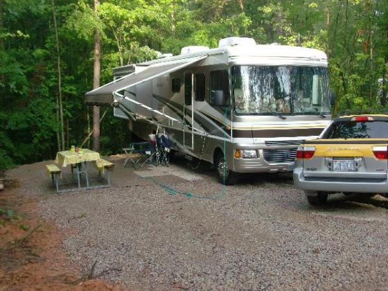 Spacious sites for big rigs!