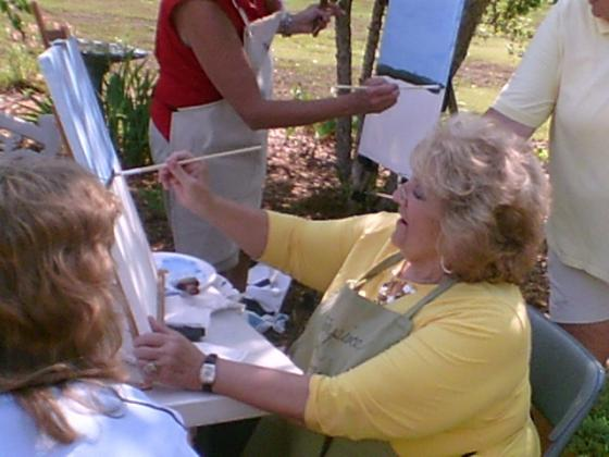 Masterpiece in Minutes Art Class held for guest at CarrollWoods RV Park