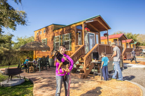 Enjoy a Deluxe Cabin at St Petersburg KOA