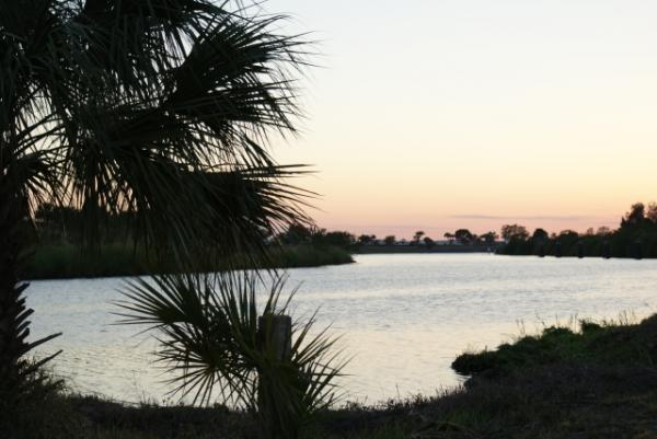 View of Caloosahatchie River from park