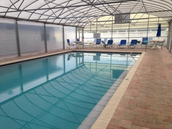 Enclosed heated swimming pool