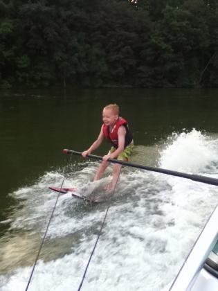 waterskiing at Austin Lake Park near Steubenville OH