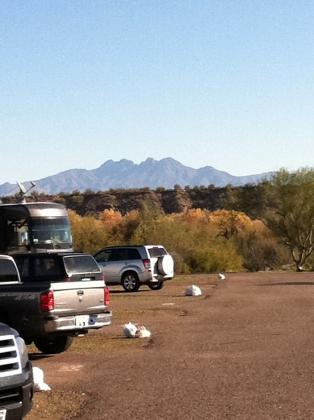 View of Four Peaks from Eagle View RV Resort