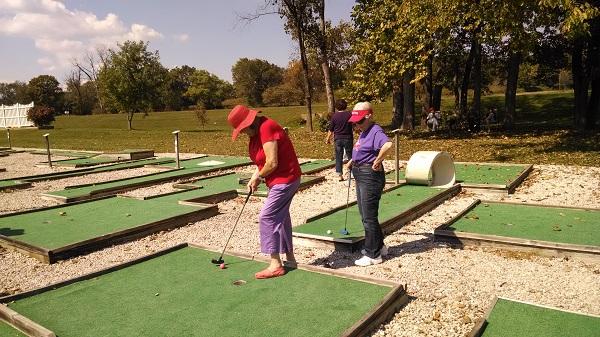 Mini golf enjoyed by everyone