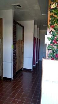 Clean, modern bathroom facilities