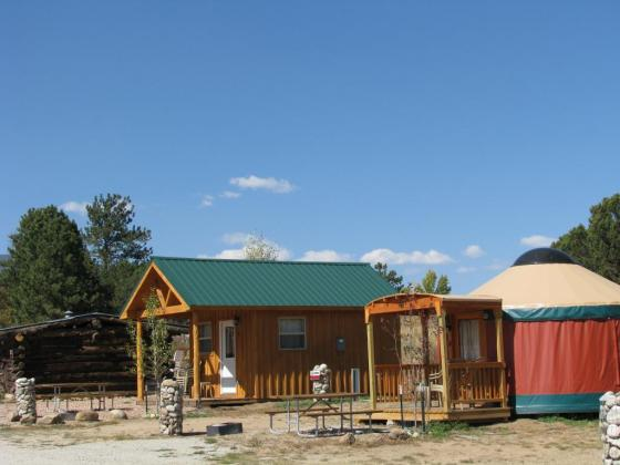 Arrowhead Point Camping Resort near Buena Vista has cabins and yurts!