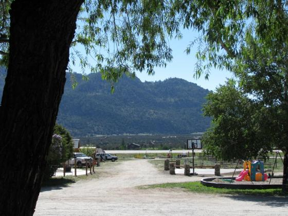 Scenic mountain views at Arrowhead Campground near Buena Vista.