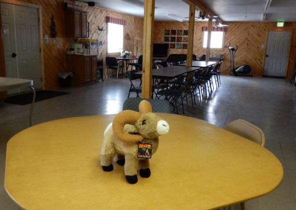 Great rec room / social hall at Aspen Ridge RV Park (South Fork CO)