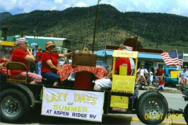 Many fun social events at Aspen Ridge RV Park, South Fork Colorado