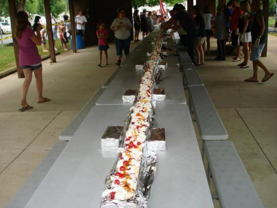 50 Foot Banana Split one of many fun activities for the kids