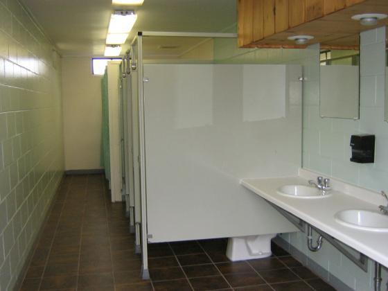 Sparkling clean bathhouse