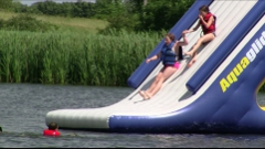 Summit Express Waterslide on our lake