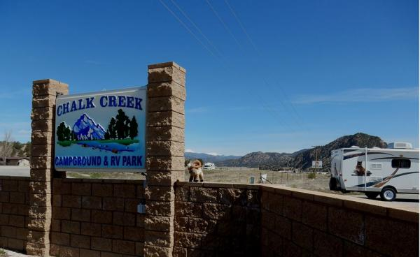 Chalk Creek campground welomes you with amazing views!