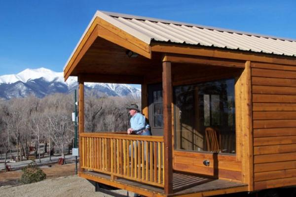 Cabins for rent at Chalk Creek Campground!