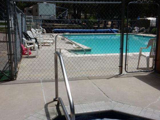 Cool off in the pool at Colorado Heights Campground