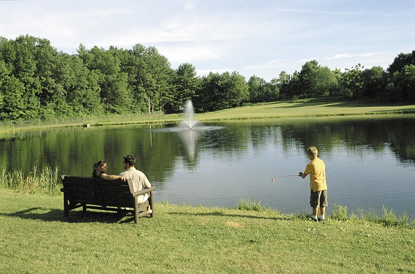 Enjoy our On-Site Bass Fishing Pond