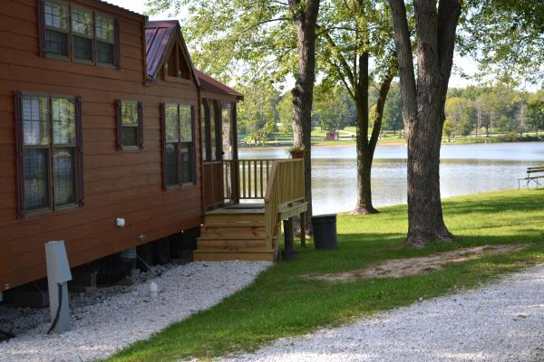 Lakefront Deluxe Park Model Cabins