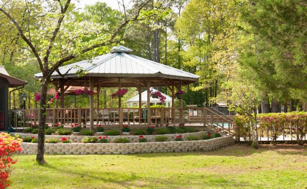 Our grounds have many beautiful Gazebos and boardwalks throughout the park
