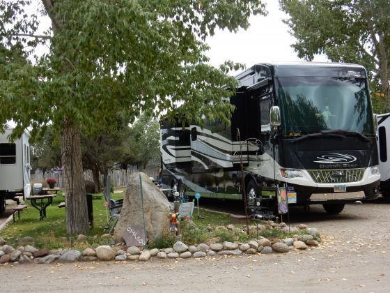 Big rig RV site at Snowy Peaks RV Park in Buena Vista Colorado