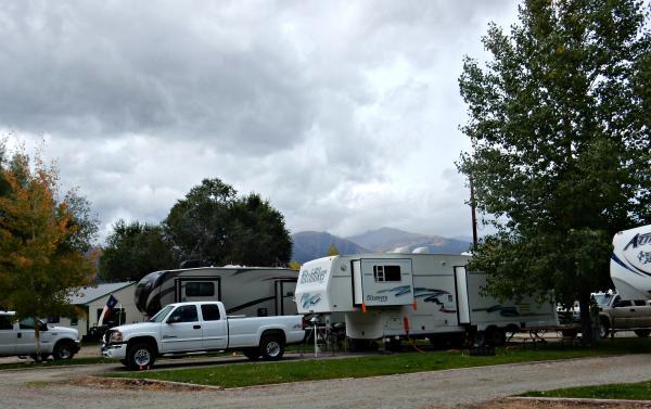 Long RV sites at Snowy Peaks RV Park in Buena Vista Colorado