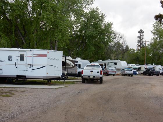 RV sites at Fireside Cabin & RV Park near Loveland Colorado