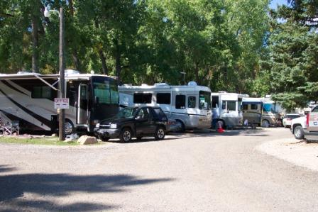 RV sites at Fireside Cabins and RV Park near Loveland Colorado