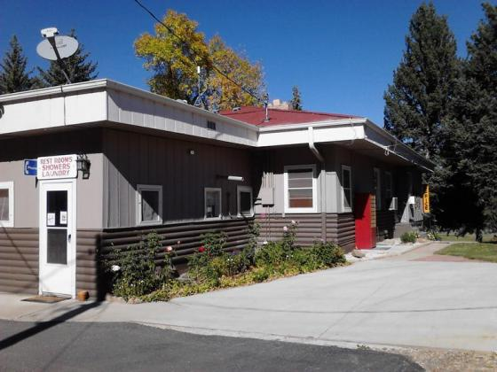 Laundry room is in the main building at Fireside Cabins & RV Park near Loveland