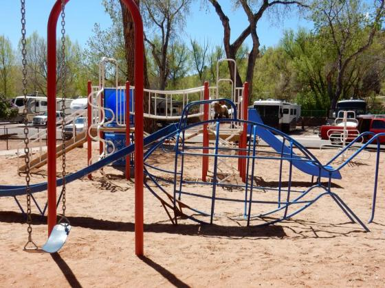 Great play area for kids at Garden of the Gods RV Resort! ~ Colorado Springs CO