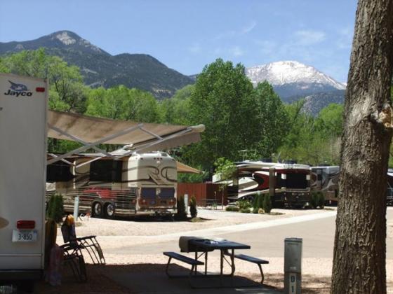 Great Scenery at Garden of the Gods RV Resort, Colorado Springs CO