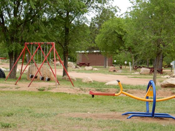 Play at the park at Golden Eagle Campground