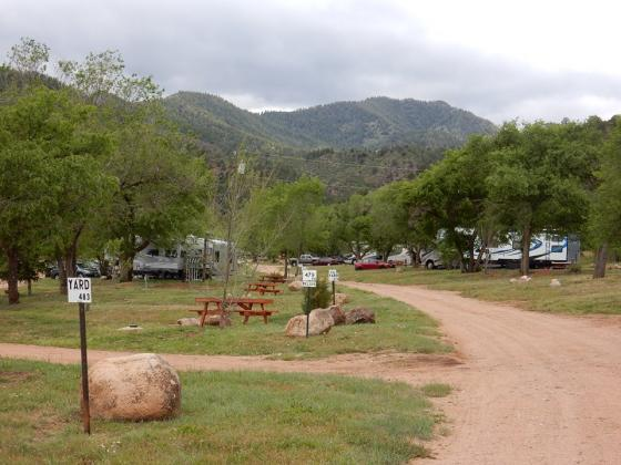 Relaxing scenery at Golden Eagle Campground