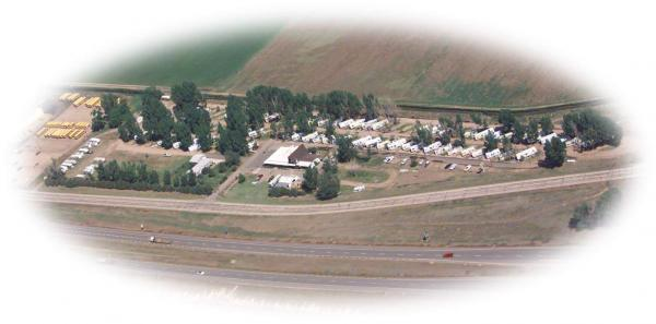 Bird's-eye view of Greeley RV Park