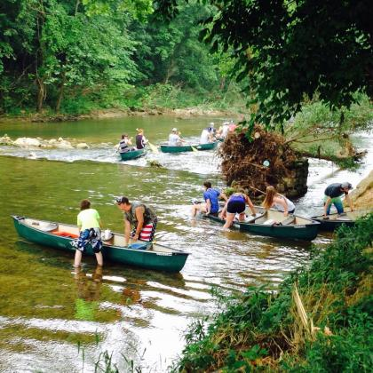 Groups Floating at Beaver Creek, Missouri in the Ozarks