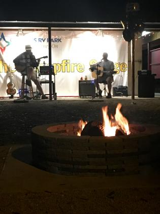 Live music at our community compfire!