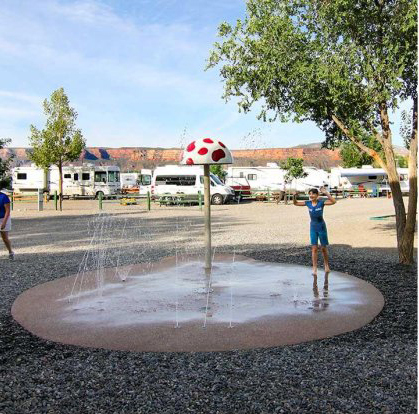 Splash pad - spray ground for cooling off