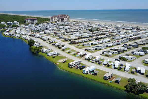 Myrtle Beach Travel Park aerial shot
