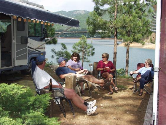 Campsite overlooking Shasta lake Lakeshore Inn & RV