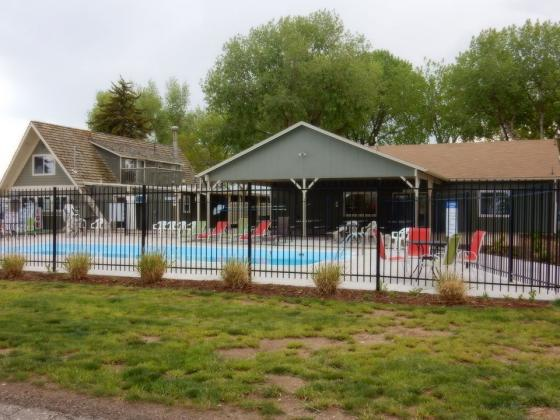 Cool off in the pool at Loveland RV Resort