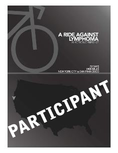 A Ride for Lymphoma Participant