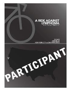 A Ride for Lymphoma Participant