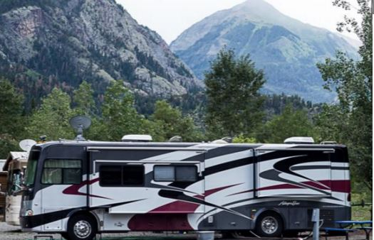 RV campsites and vacation rental cabins at Ouray RV Park & Cabins in Ouray Colorado