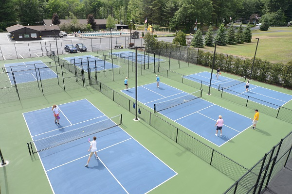 Six state of the art, lighted, pickleball courts