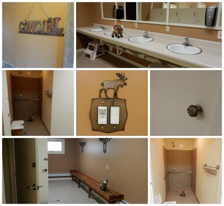 You'll enjoy these restrooms at Elk Creek Campground & RV Park in Grand Lake Colorado