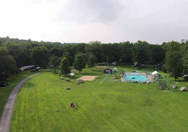 Pool/Softball Field for Driftstone Campground